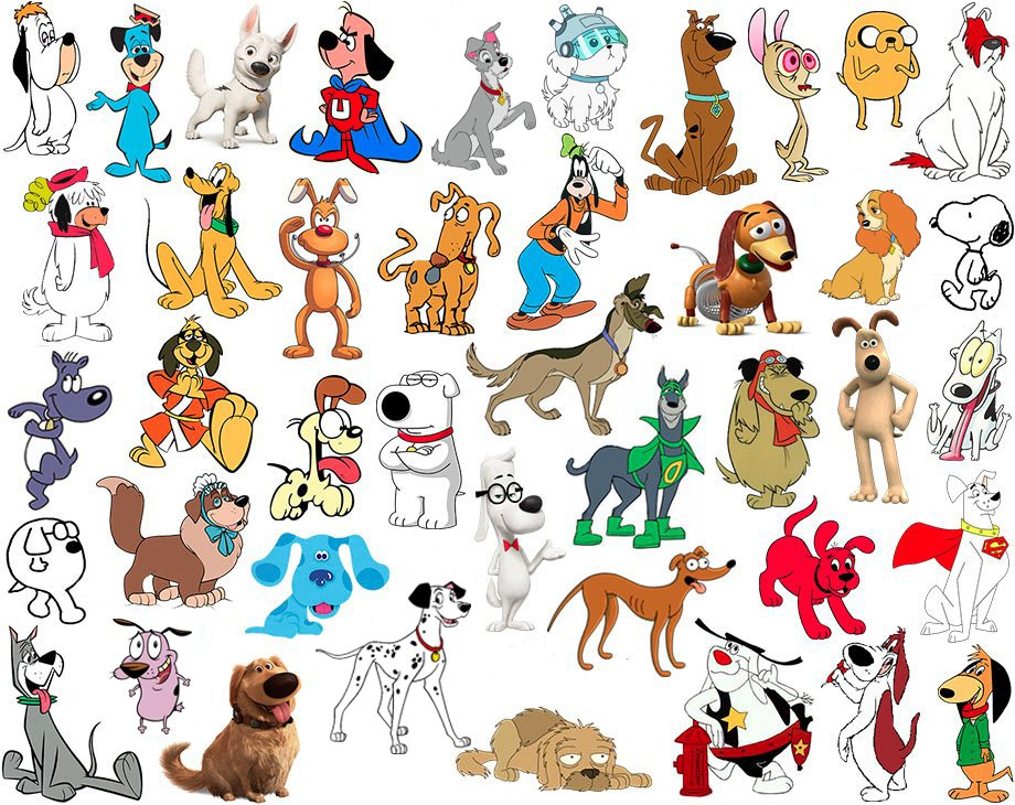 Cartoon Characters Quizzes : Find the cartoon dogs quiz